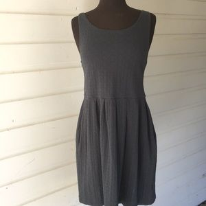 Anthro Deletta Smoke Blue Gray Textured Dress